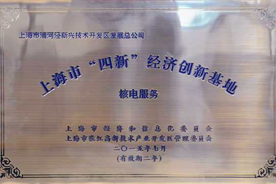 """上海市""""四新""""经济创新基地.核电服务"""