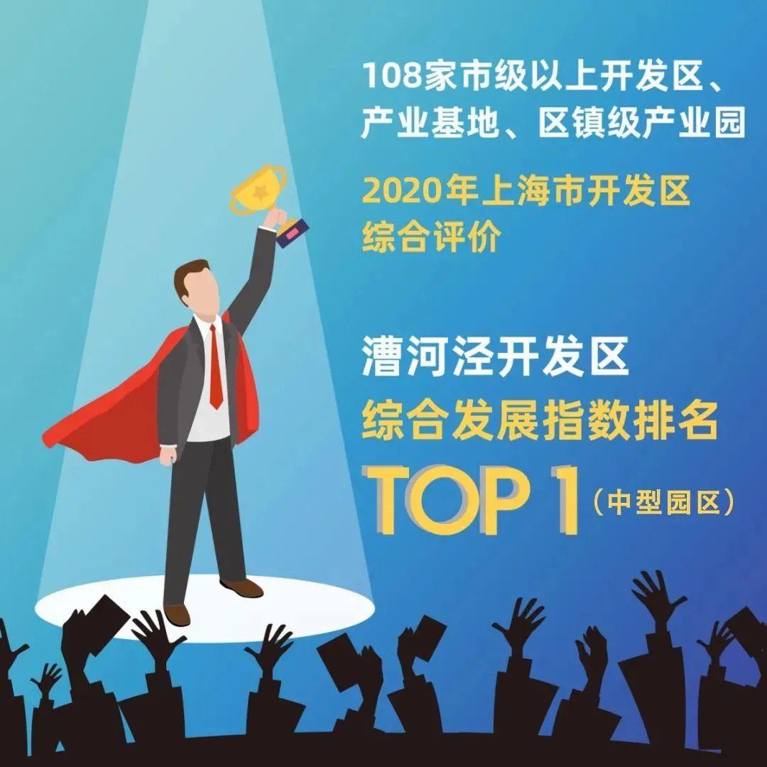 漕河泾开发区在2020年上海开发区综合评价中名列中型园区第一名